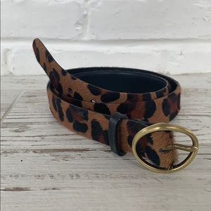 Johnston & Murphy Women's Leopard Belt Sz Small